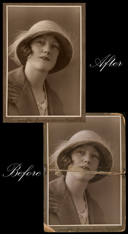 Old photograph copied and restored by Laceys Studios